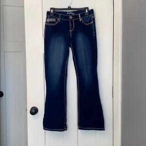 Juniors Amethyst boot cut jean Size 9 Short